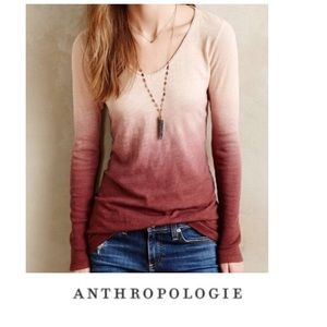 Anthropologie Pure+Good Ombré Long Sleeve Top